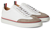 Thom Browne - Suede-trimmed Full-grain Leather Sneakers
