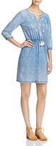 Design History Embroidered Chambray Peasant Dress