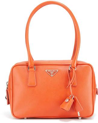 Prada Preowned Saffiano Medium Textured Leather Shoulder Bag
