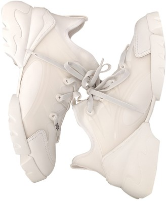 Christian Dior D Connect White Rubber Trainers