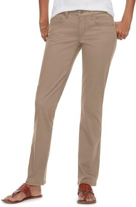 Sonoma Goods For Life Petite Straight-Leg Mid-Rise Sateen Pants