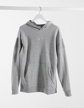 Reebok TE melange OTH hoodie in medium gray heather