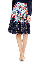 Antonio Melani Sabina Printed Mesh/Chemical Lace Skirt