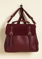 Stop, Rock, and Roll Convertible Bag in Burgundy
