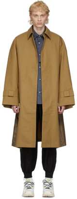 A. A. Spectrum Tan Hobo Trench Coat