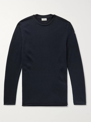 Moncler Logo-Appliqued Wool And Cashmere-Blend Sweater