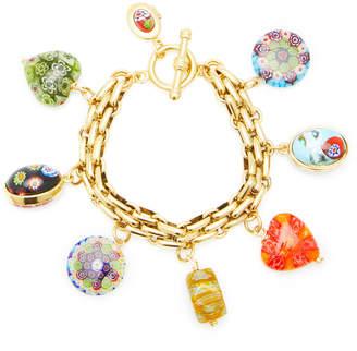 Millefiori Brinker & Eliza Spellbound 24K Gold-Plated Chain And Charm Bracelet
