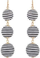 Kenneth Jay Lane WOMEN'S STRIPED SPHERE-DROP EARRINGS