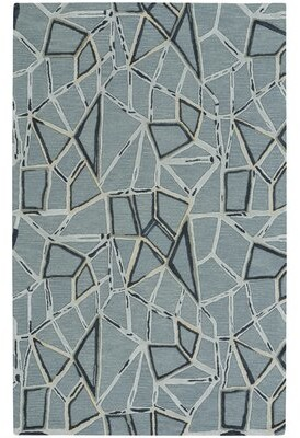 Capel Rugs Splinter Hand-Tufted Azure Area Rug Rug Size: Rectangle 5' x 8'