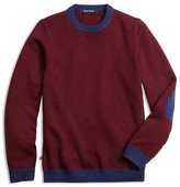 Brooks Brothers Boys' Contrast Trim Merino Wool Sweater - Sizes 4-16
