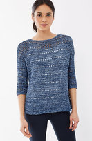 J. Jill Pure Jill Open-Stitch Relaxed Pullover