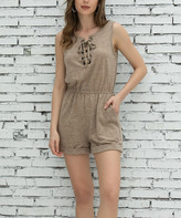 Z Avenue Women's Rompers Taupe - Taupe Romper - Women & Plus