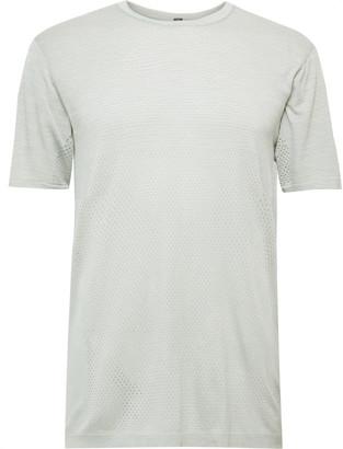 Lululemon Metal Vent Breathe Melange Mesh T-Shirt - Men - Gray