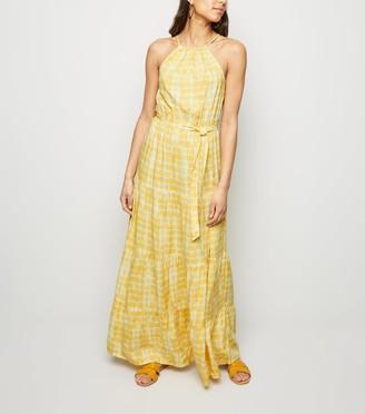 New Look Tie Dye Halterneck Maxi Dress