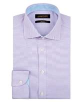 Jaeger Houndstooth Weave Slim Shirt