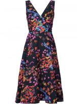 Saloni floral print dress