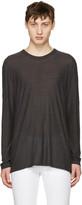Alexander Wang Grey Long Sleeve T-shirt