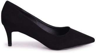 Linzi LUCINDA - Black Suede Classic Court Shoe With Low Heel