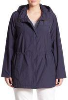 Eileen Fisher, Plus Size Hidden Hood Long Jacket