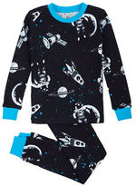 Petit Lem Lost in Space Two-Piece All Over Printed Pajama Set