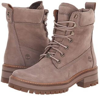 Timberland Courmayeur Valley 6 Boot (Taupe Nubuck) Women's Lace-up Boots