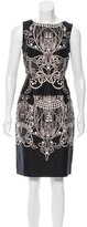 David Meister Printed Ruffle-Trimmed Dress w/ Tags