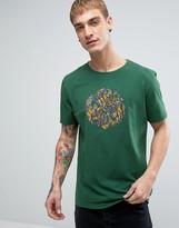 Pretty Green Paisley Logo T-shirt In Dark Green