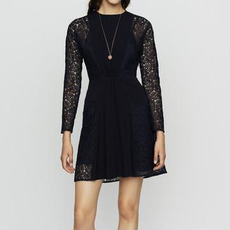 Maje Crepe and lace dress