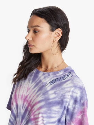 I Stole My Boyfriend's Shirt Cosmo Tie Dye MOTHER Tee - Purple