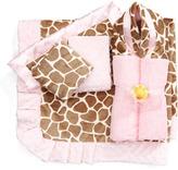 Swankie Blankie Giraffe-Print Receiving Blanket, Monogram