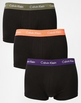 Calvin Klein 3 Pack Cotton Stretch Low Rise Trunks