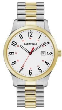 Caravelle Designed by Bulova Men's Two-Tone Stainless Steel Bracelet Watch 40mm