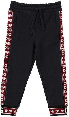 Dolce & Gabbana Cotton Sweatpants W/ Logo Bands