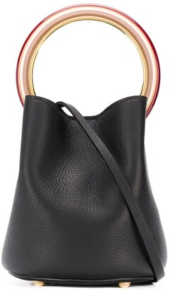 Marni metallic handle bag