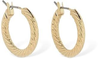 Laura Lombardi Mini Etched Hoop Earrings