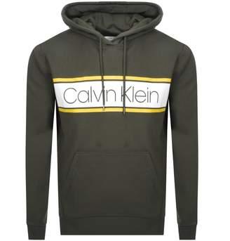 Calvin Klein Logo Hoodie Green