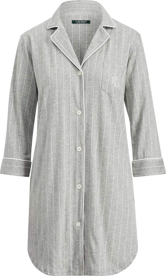 Thumbnail for your product : Ralph Lauren Striped Jersey Sleep Shirt