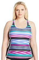 ZeroXposur Zero Xposur Women's Plus Size Echo Sporty Swimsuit Tankini Top