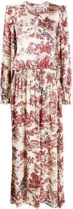 Zadig & Voltaire Roar Jouy satin dress