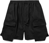 Rick Owens Layered Cotton-Canvas Cargo Shorts
