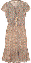 Vanessa Bruno Iasy Floral-print Georgette Dress - Beige