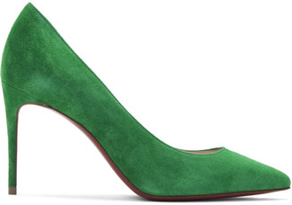 Christian Louboutin Green Velour Suede Kate 85 Heels