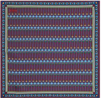 Eton Silk Geometric Print Pocket Square