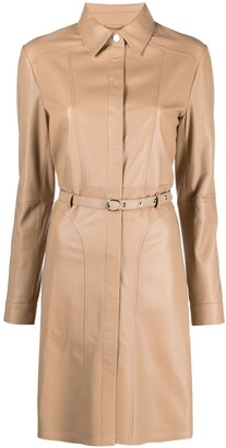 Arma Leather Belted Dress
