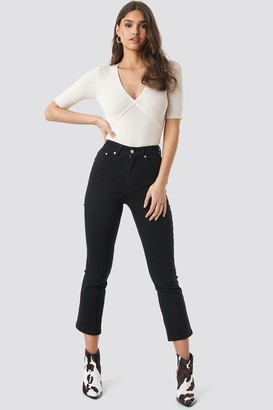 NA-KD Mid Rise Cropped Flared Jeans