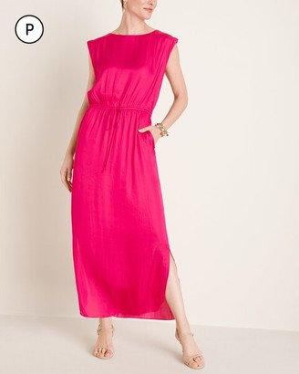 Chico's Petite Tie-Waist Pocketed Maxi Dress