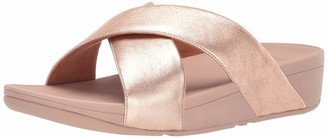 FitFlop Women's LULU Cross Slide Sandals-Leather