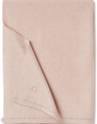 Oyuna Sabra Classic Woven Contrast Border Cashmere Throw Blush