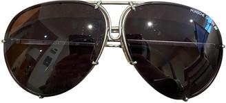 Porsche Design Black Metal Sunglasses