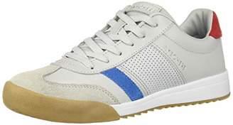 Skechers Women's ZINGER -RETRO ROCKERS Sneakers, Grey (Gray Leather/Blue Red Suede Trim Yellow Gy Bl), 6 (39 EU)